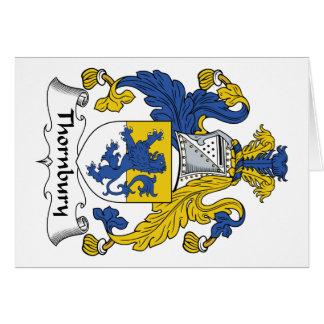 Escudo de la familia de Thornbury Felicitación