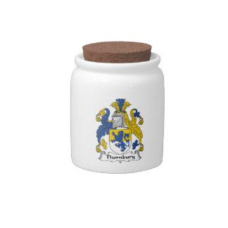 Escudo de la familia de Thornbury Jarras Para Caramelos