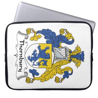 Escudo de la familia de Thornbury Funda Computadora