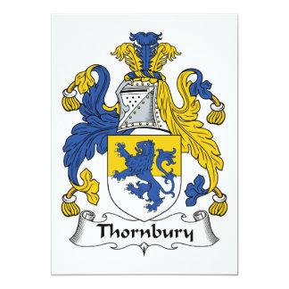 Escudo de la familia de Thornbury Invitaciones Personales