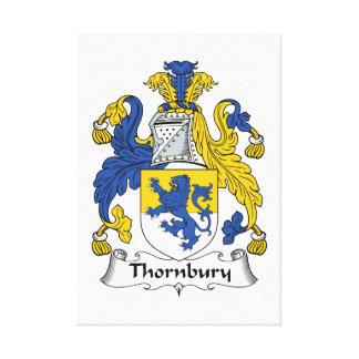 Escudo de la familia de Thornbury Impresión En Lienzo Estirada