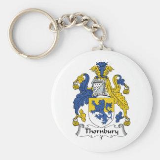 Escudo de la familia de Thornbury Llaveros Personalizados