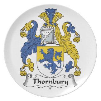 Escudo de la familia de Thornbury Plato De Comida