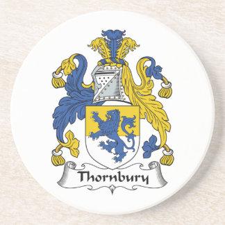 Escudo de la familia de Thornbury Posavasos Manualidades