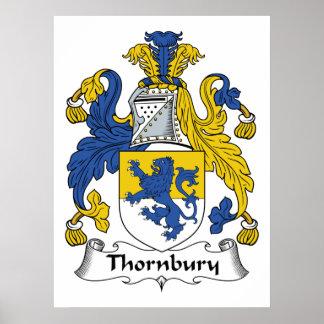 Escudo de la familia de Thornbury Posters