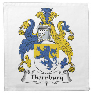 Escudo de la familia de Thornbury Servilleta De Papel