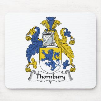 Escudo de la familia de Thornbury Tapetes De Ratones