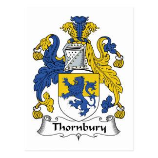 Escudo de la familia de Thornbury Tarjetas Postales