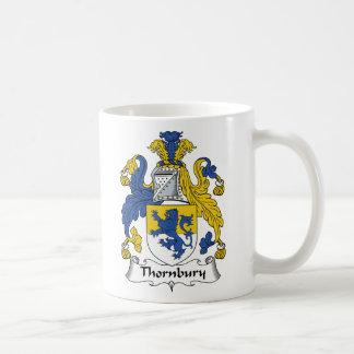 Escudo de la familia de Thornbury Taza