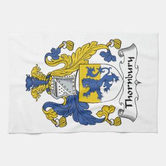 Escudo de la familia de Thornbury Toalla