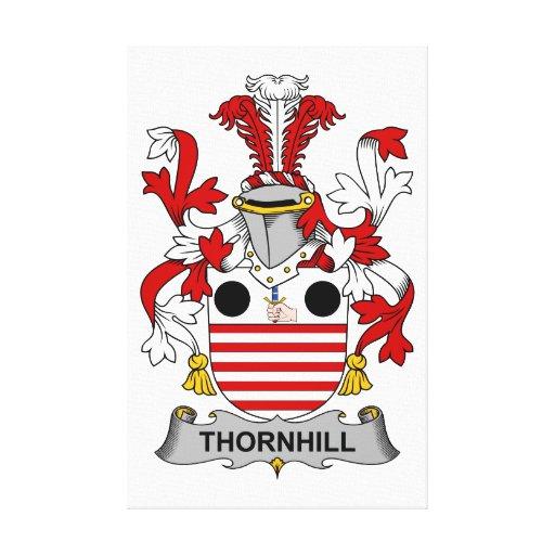 Escudo de la familia de Thornhill Impresiones En Lienzo Estiradas