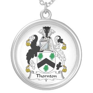 Escudo de la familia de Thornton Colgante Redondo