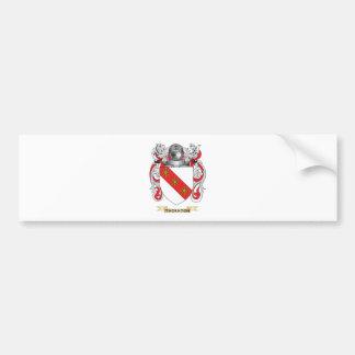 Escudo de la familia de Thornton (escudo de armas) Pegatina De Parachoque