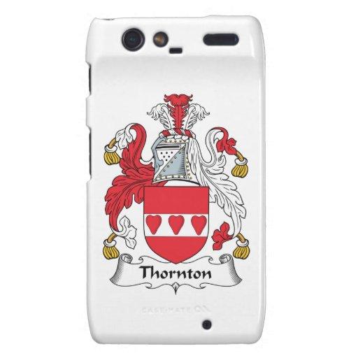 Escudo de la familia de Thornton Motorola Droid RAZR Fundas