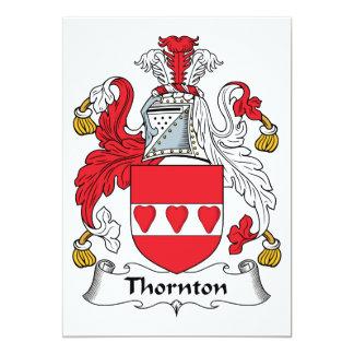 """Escudo de la familia de Thornton Invitación 5"""" X 7"""""""