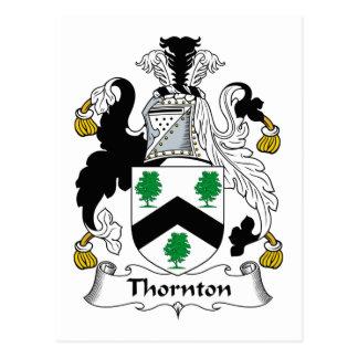 Escudo de la familia de Thornton Postal