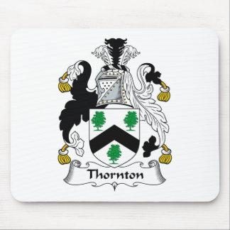 Escudo de la familia de Thornton Tapete De Ratones