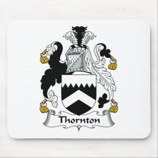 Escudo de la familia de Thornton Tapetes De Raton