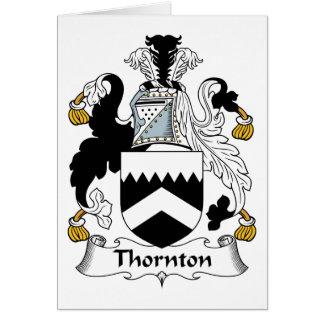 Escudo de la familia de Thornton Tarjeta De Felicitación