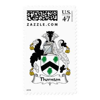 Escudo de la familia de Thornton Timbre Postal