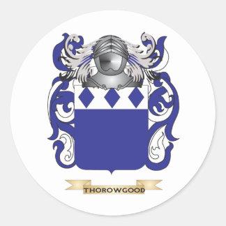 Escudo de la familia de Thorowgood (escudo de Pegatina Redonda