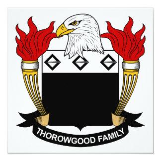 Escudo de la familia de Thorowgood Invitacion Personalizada