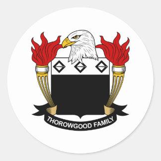 Escudo de la familia de Thorowgood Pegatinas Redondas