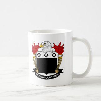 Escudo de la familia de Thorowgood Tazas De Café