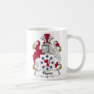 Escudo de la familia de Thorp Taza De Café