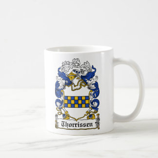 Escudo de la familia de Thorrissen Tazas De Café