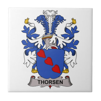 Escudo de la familia de Thorsen Azulejo Cuadrado Pequeño