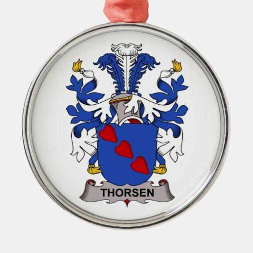 Escudo de la familia de Thorsen Ornamento Para Arbol De Navidad