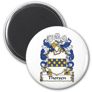Escudo de la familia de Thorsen Imanes Para Frigoríficos