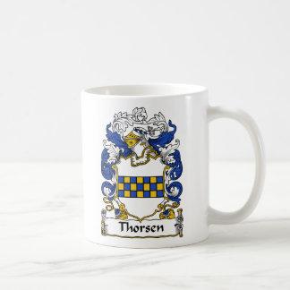 Escudo de la familia de Thorsen Taza De Café