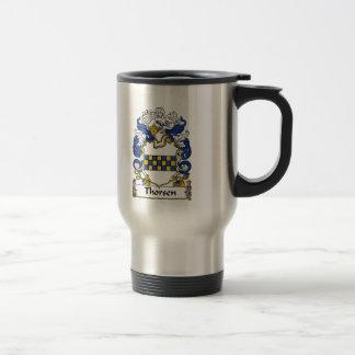 Escudo de la familia de Thorsen Tazas De Café