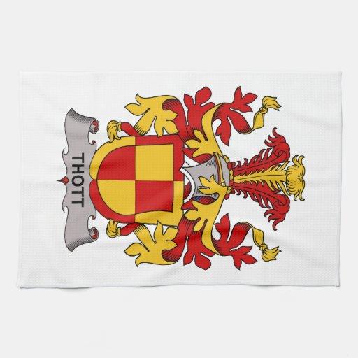 Escudo de la familia de Thott Toalla De Mano