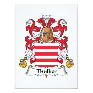 """Escudo de la familia de Thullier Invitación 6.5"""" X 8.75"""""""
