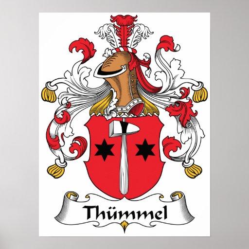 Escudo de la familia de Thummel Posters
