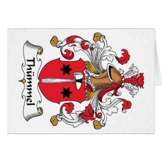 Escudo de la familia de Thummel Tarjeta De Felicitación