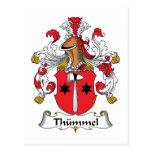 Escudo de la familia de Thummel Tarjeta Postal