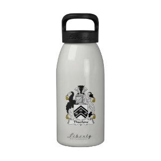 Escudo de la familia de Thurlow Botella De Agua Reutilizable