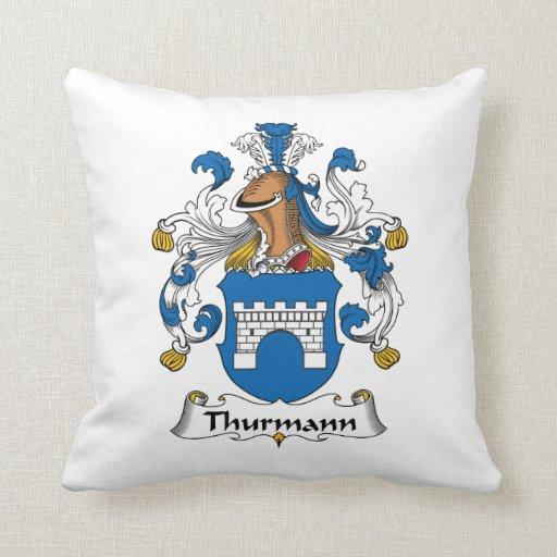 Escudo de la familia de Thurmann Almohadas