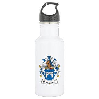 Escudo de la familia de Thurmann Botella De Agua