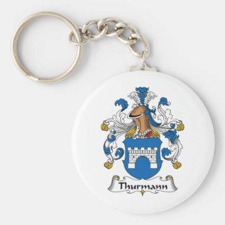 Escudo de la familia de Thurmann Llavero Redondo Tipo Pin