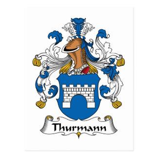Escudo de la familia de Thurmann Postal