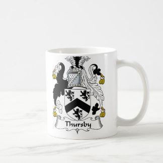 Escudo de la familia de Thursby Taza
