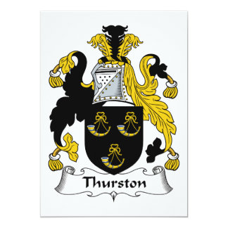 "Escudo de la familia de Thurston Invitación 5"" X 7"""