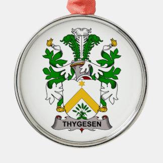 Escudo de la familia de Thygesen Adorno Navideño Redondo De Metal