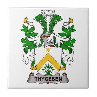 Escudo de la familia de Thygesen Teja Cerámica