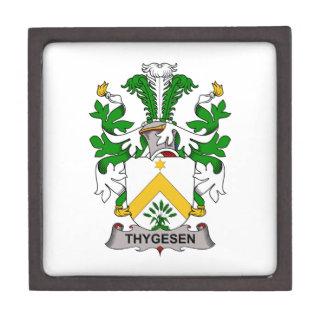 Escudo de la familia de Thygesen Cajas De Joyas De Calidad